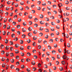 Red Turquoise Print (B44)
